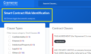 smart contract risk identification | ai software for legal document analysis