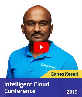 Ganes Kesari speaking about Save the Elephants with Deep Learning and aerial imagery at Intelligent Cloud Conference, copenhagen 2018