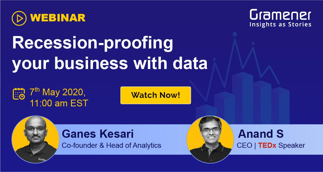 Gramener's Ganes Kesari and Anand S hosting a webinar on how to increase revenue and grow business in the covid-19 recession